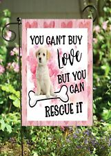 Dog Rescue On Pink - Double Sided Soft Flag *Garden Size* Fg1371