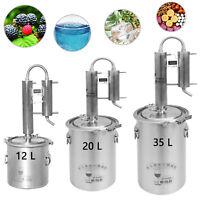 12~35 L Stainless Moonshine Still Household Distiller Whisky Water Oil Brew Kits