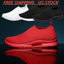 Men's Casual Slip On Running Sneakers Lightweight Athletic Tennis Shoes Walking