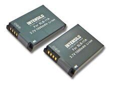 2x BATERIA INTENSILO 1000mAh para Samsung Digimax WB-650 WB-1000 WB-5000