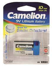 Camelion PP3 9V Ultra High Capacity 1200mAh Lithium Battery for Smoke Detectors