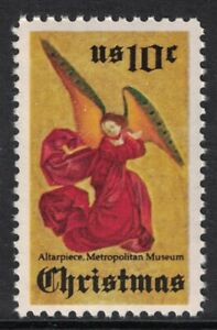 Scott 1550- Angel from Perussis Altarpiece, Christmas- MNH 1974- 10c mint stamp