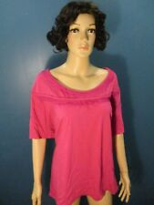 Plus Size 4X pink BRAIDED COLLAR TEE blouse by FASHION BUG