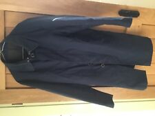 Crew large navy trench coat Mens 44 in Chest cotton polyester