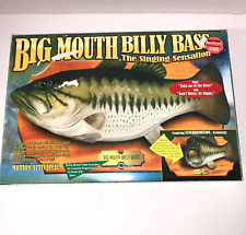 Big Mouth Billy Bass Singing Fish Gemmy 1999 Works w/ Box Extra Plate