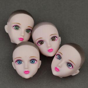 Kids Practice Makeup Doll Heads Original 3D Eye XINYI Doll Head For 1/6 BJD Doll