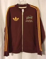 Cleveland Cavaliers Cavs Wine/Red adidas Full Zip Track Jacket Trefoil Men's XL