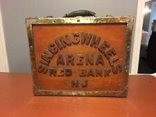 Rare 1940s Handmade Wooden Roller Skate Case Singing Wheels Arena Red Bank NJ