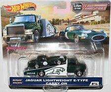 HOT WHEELS 2019 TEAM TRANSPORT CASE F JAGUAR LIGHTWEIGHT E-TYPE CARRY ON