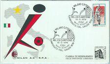 67874 - ITALIA REPUBBLICA -  ANNULLO SPECIALE su cartoncino:  MILAN calcio  1979