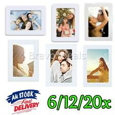 White Magnetic Fridge Photo Frames 4x6 10x15cm Clear Pocket Gift Home Decor AU