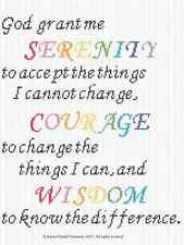 Crochet Pattern/Patterns -  SERENITY PRAYER Color Graph/Chart Afghan Pattern
