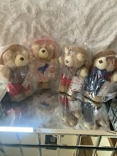 "New SEALED Lot 4 Vintage 1986 Wendy's Furskins 7"" Bears Package"