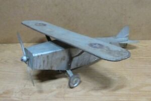 """1930s Tin Airplane, TIP TOP TOY GIANT FLYER No. 200, 19.5"""" Wingspan"""