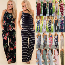 UK Plus Size Boho Womens Holiday Mini Playsuits Summer Beach Sun Dress Jumpsuit
