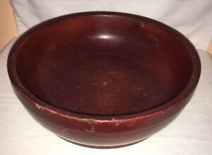 vintage large california redwood 12'' salad wooden serving bowl