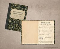 Scherz-Dienstbotenbuch, Tanzkarte, Gemeinde Schießgraben, Augsburg, 1904