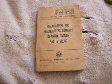 Head Quarters & Headquarters Company Infantry Division Battle Group FM 7-21