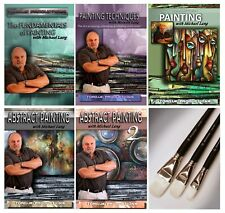 Painting Instruction, Mix Lang Art, DVD set of 5 plus Master Art Brush Set Howto