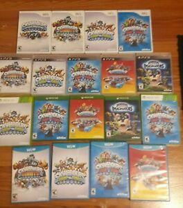SKYLANDERS Game Discs Giants Swap Force Trap Team Imaginators Xbox One PS4 Wii U