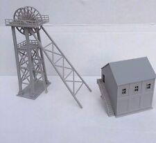 DAPR - N Gauge Model Scenery Building Kit- Mining Pit Head Tower & Winding House