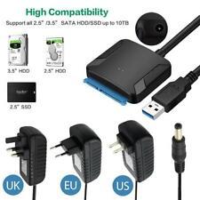 Sata USB 3.0 a 2.5/3.5 HDD SSD Disco Duro Convertidor Adaptador de Cable Buenas#