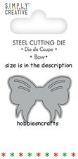 DOVECRAFT SIMPLY CREATIVE SMALL STEEL CUTTING DIE - CHRISTMAS BOW