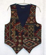 """Saddle River Western Tapestry Vest  Size Medium  (Bust 36"""")"""