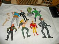 LOT OF 8 MARVEL DC ACTION FIGURES VERY NICE SEE PICS