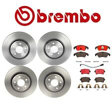 Front and Rear Disc Brake Rotors & Ceramic Pads Full Kit For Audi A4 A5 Quattro