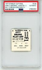 1977 STANLEY CUP FINAL TICKET STUB PSA BOSTON BRUINS MONTREAL CANADIENS NHL !  !
