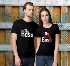 The Boss - The Real Boss - Valentine's Day Matching T-Shirts for Couples!
