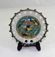 "Vintage 1970's Sea World Souvenir Plate Scalloped Edges 5"" Diameter"