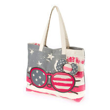 Hello Kitty Americana Sunglasses Tote Bag Stars Stripes America Red Blue - NWT