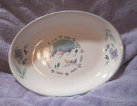"Pfaltzgraff Ceramic 9"" Hand Painted Oval Serving Platter Vintage U.S.A. Sleigh"