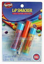 LIP SMACKER* 3pc Balm/Gloss SKITTLES Collection VERY MERRY Strawberry+Banana 1/2
