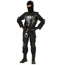 Childs Swat Officer Fancy Dress Costume Police Cop Outfit Kids Boys Age 5 6 7