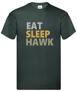 EAT SLEEP HAWK  Falconry Tee Shirt