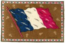 """c 1910 France Antique Cigarette Tobacco Felt Blanket Flag 8.25"""" x 5.5"""""""