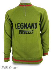LEGNANO PIRELLI vintage wool long sleeve jersey, new, never worn S