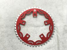 Snap BMX Products Series II 110mm 5 bolt Chainring - 45t Red