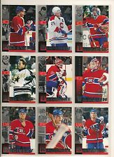 1997-98 Pinnacle Inside Montreal Canadiens Team Set (10) Koivu, Moog Etc.