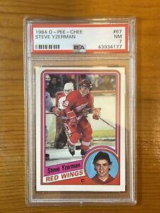 1984 OPC Hockey Steve Yzerman Detroit Red Wings #67 PSA 7