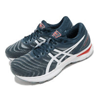 Asics Gel-Nimbus 22 4E Extra Wide Grey Blue White Men Running Shoes 1011A682-404