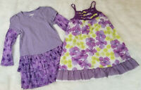 Penelope Mack & Circo (Lot of 2) Girls Size 4T Dresses Purple Lots of Ruffles