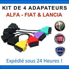 Kit de 4 Adaptateurs FIAT ALFA ROMEO LANCIA COMPATIBLE FIATECUSCAN MULTIECUSCAN