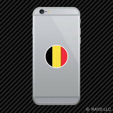 Round Belgian Flag Cell Phone Sticker Mobile Belgium BEL BE