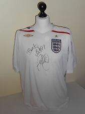 England Hand Signed Glen Johnson Shirt Very Rare.