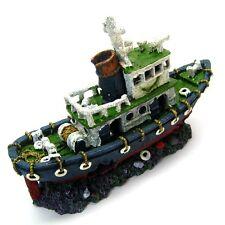 Aquarium Ornament Fishing boat 28.5cm Ancient ship Decor Shipwreck fish tank