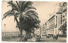 Carte postale semi ancienne animée Nice La Promenade des Anglais traction cpsa
